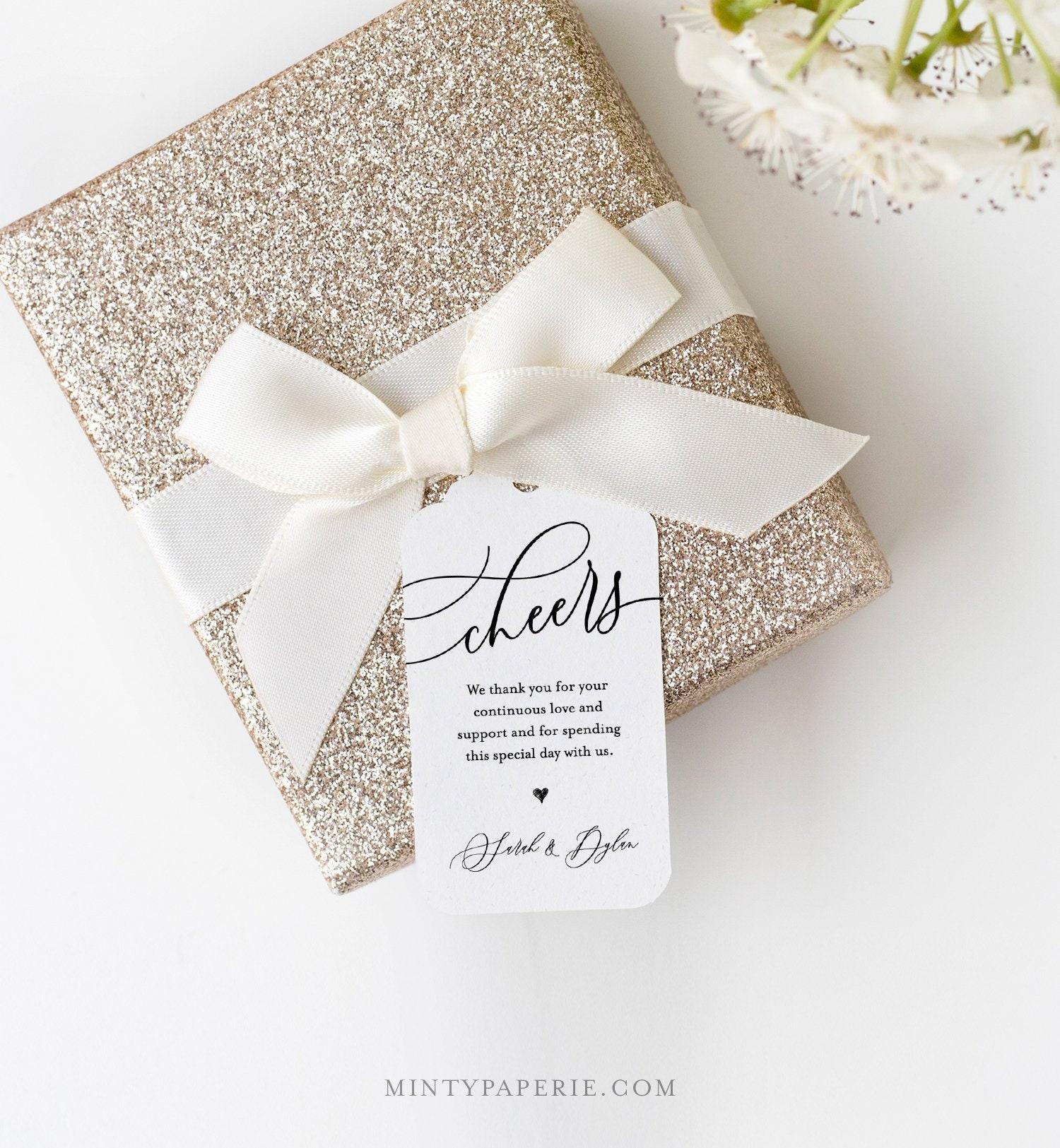 Cheers Tag Template, Printable Wine Tag, Wedding Favor Tag