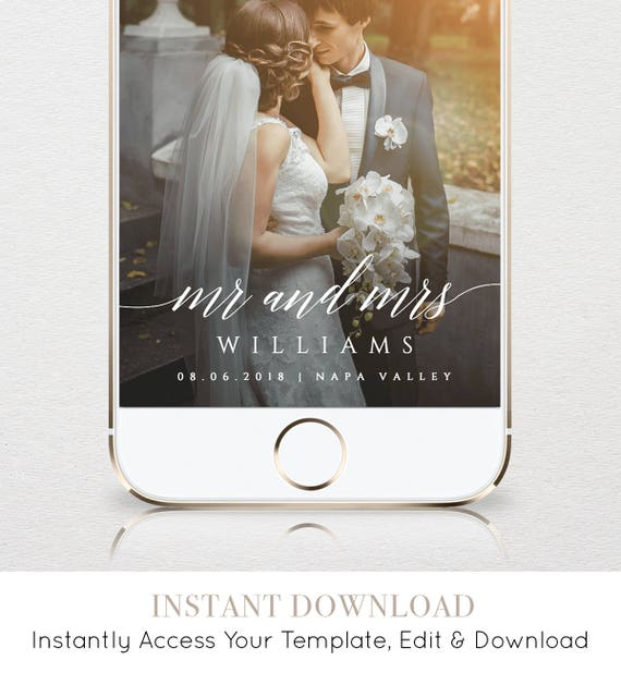 Wedding Website Password Ideas: SnapChat Geofilter Wedding SnapChat Filter INSTANT