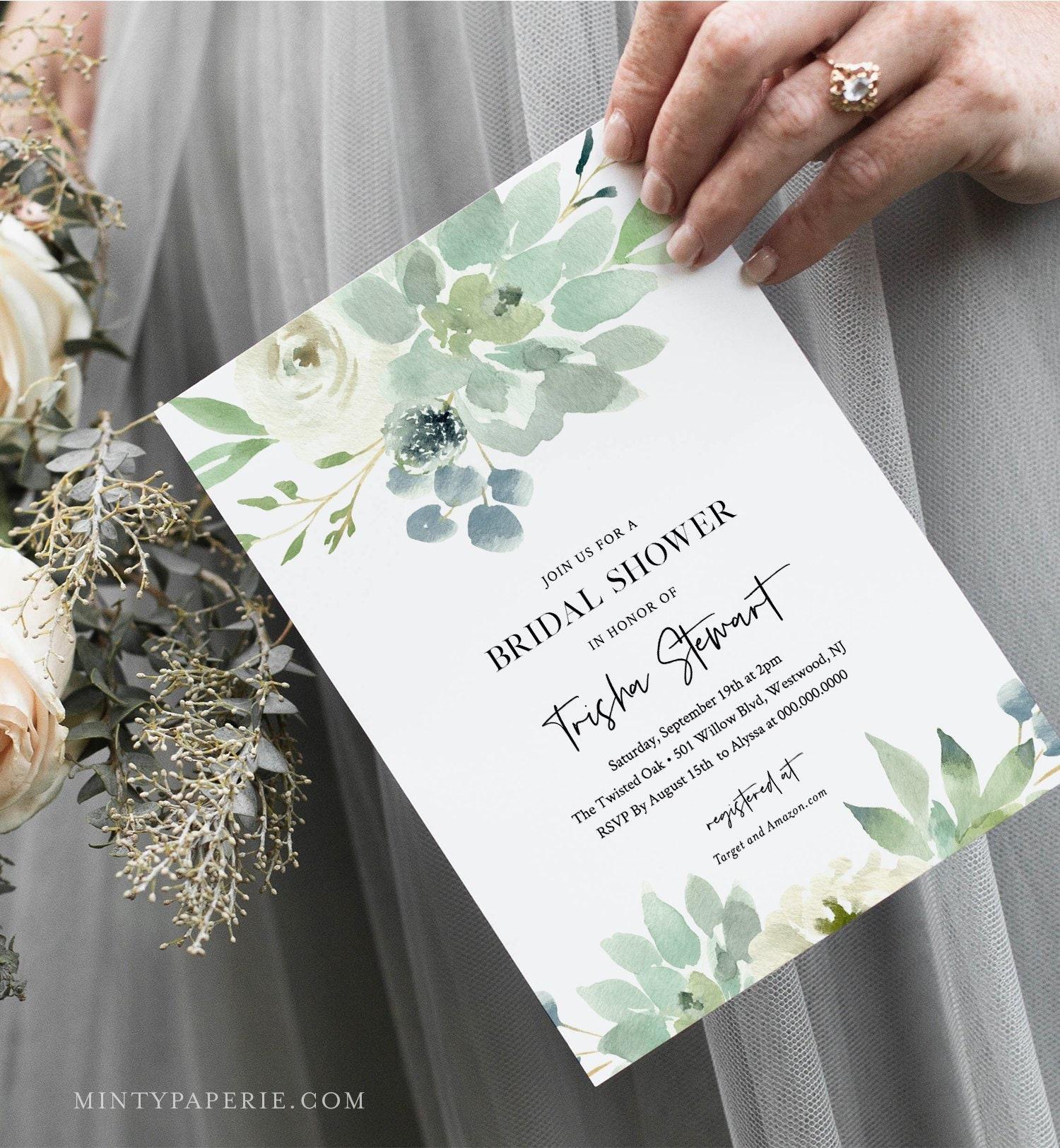 a1f0ed4af74 Succulent Bridal Shower Invitation Template