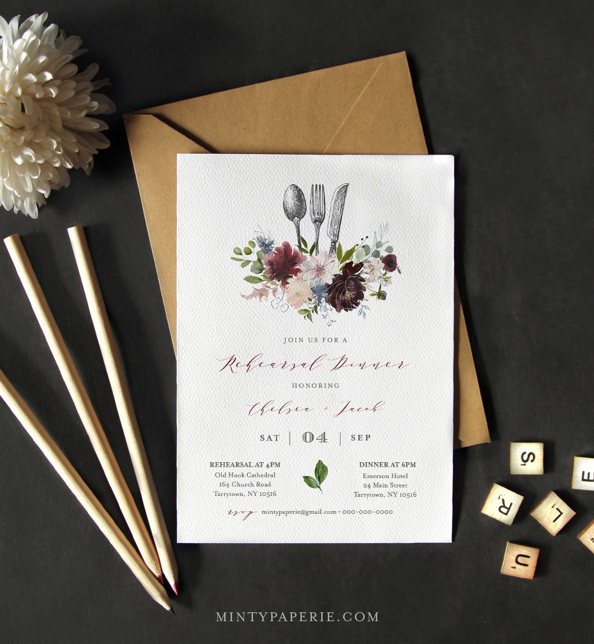 It's just a photo of Agile Printable Rehearsal Dinner Invitations