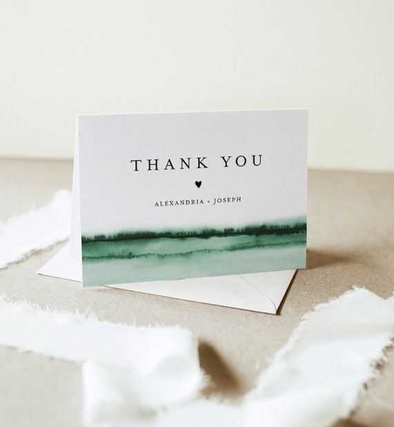 Watercolor Thank You Folded Card Printable, Burgundy Wedding / Bridal Shower Note, Editable Template, INSTANT DOWNLOAD, Templett 093C-150TYC