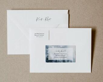 Winter Mountain Address Label, Winter Wedding Envelope Sticker, Pine Return Address Editable Template, INSTANT DOWNLOAD, Templett 070-107ENL