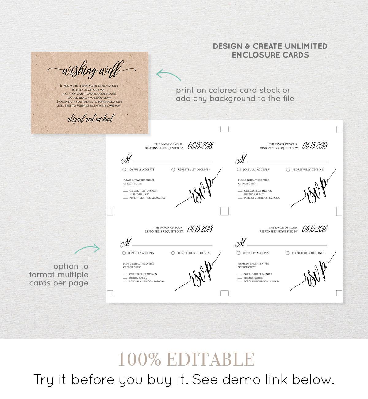 wedding invitation insert templates songwol 83467f403f96