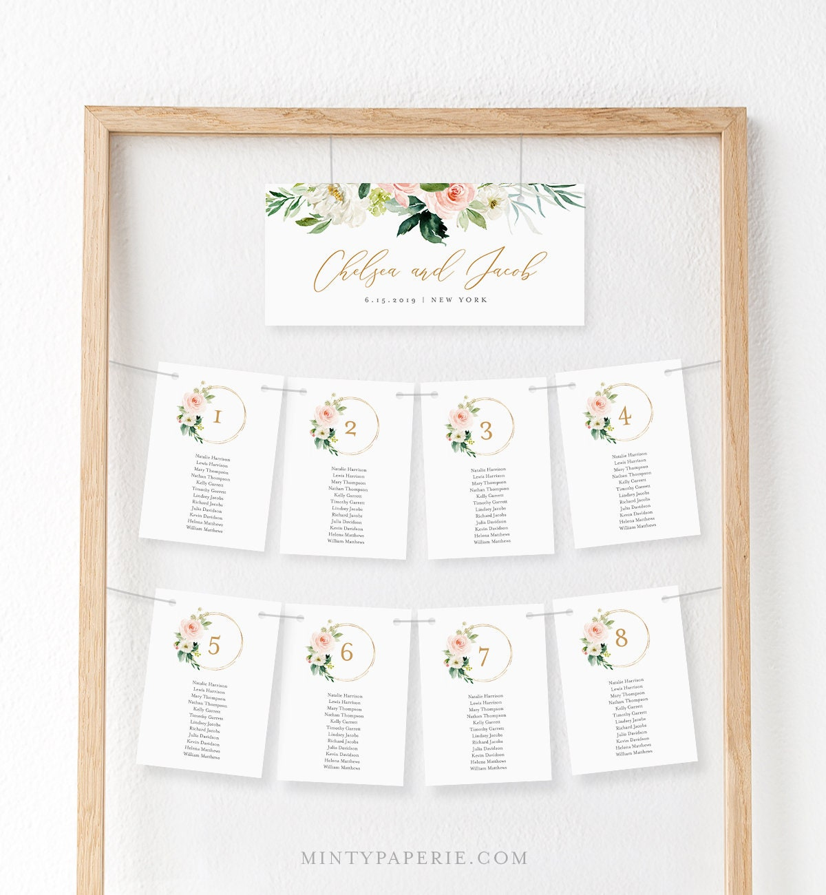 Seating Chart Printable Table Seating Cards Boho Floral Wedding Seating Plan Template Instant Download 100 Editable Text 043 110sp