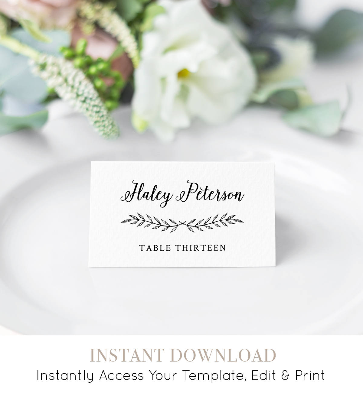 Wedding Table Cards DIY Instant Download Templett Wood Background Printable W01 INSTANT DOWNLOAD Wedding Place Cards Seating Card