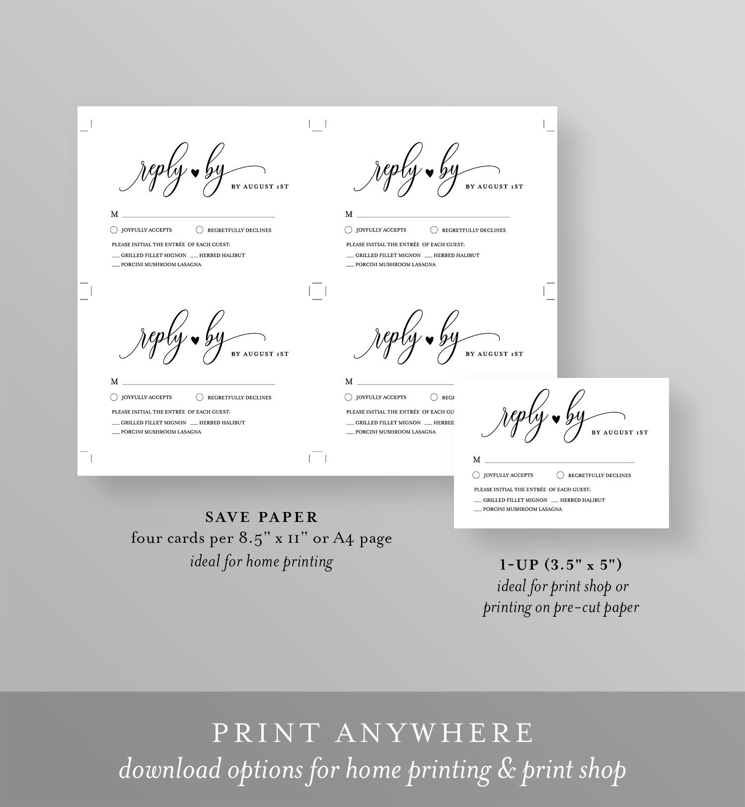 It is an image of Declarative Free Printable Rsvp Cards