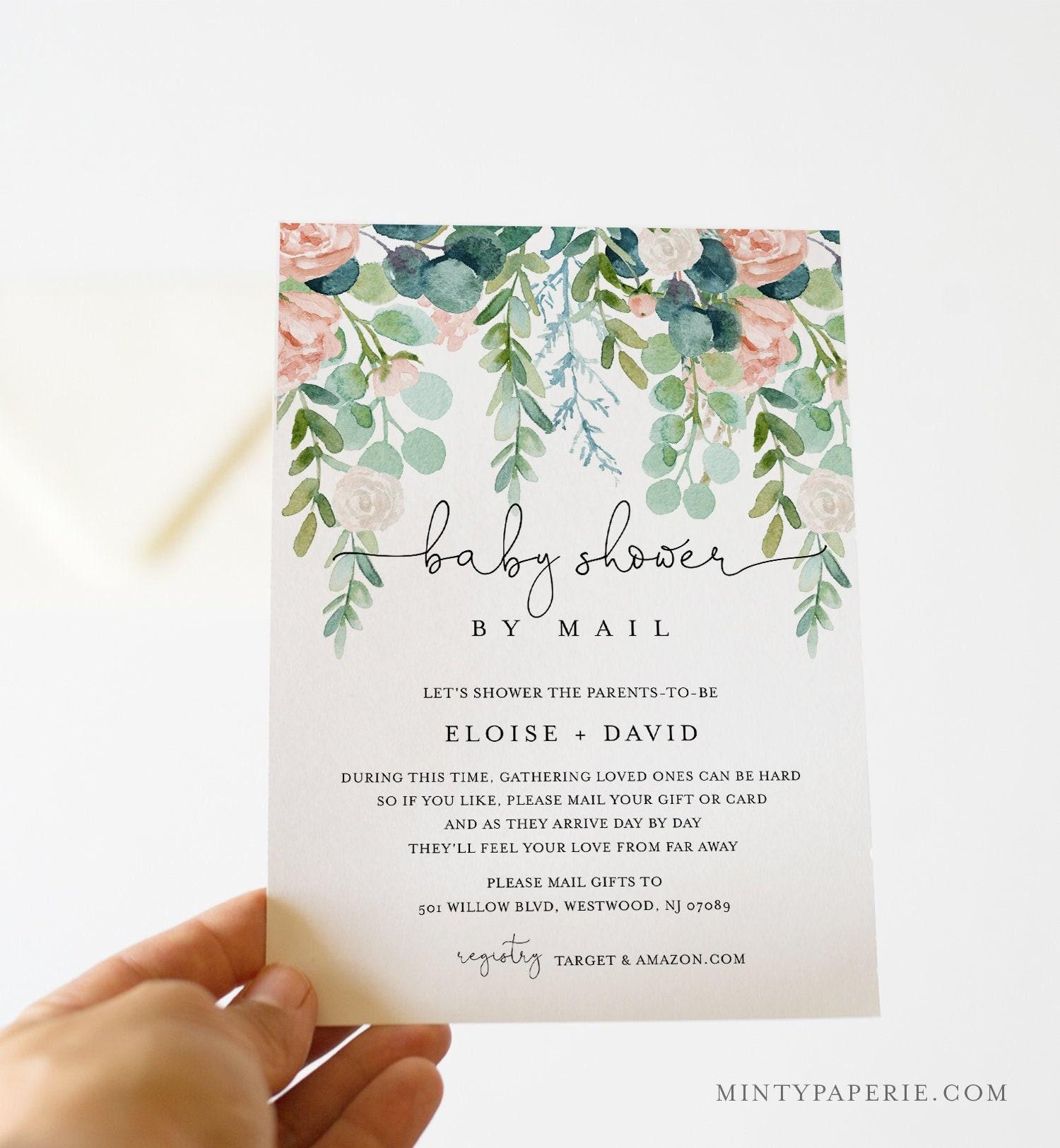 baby shower bundle lush garden invite book request