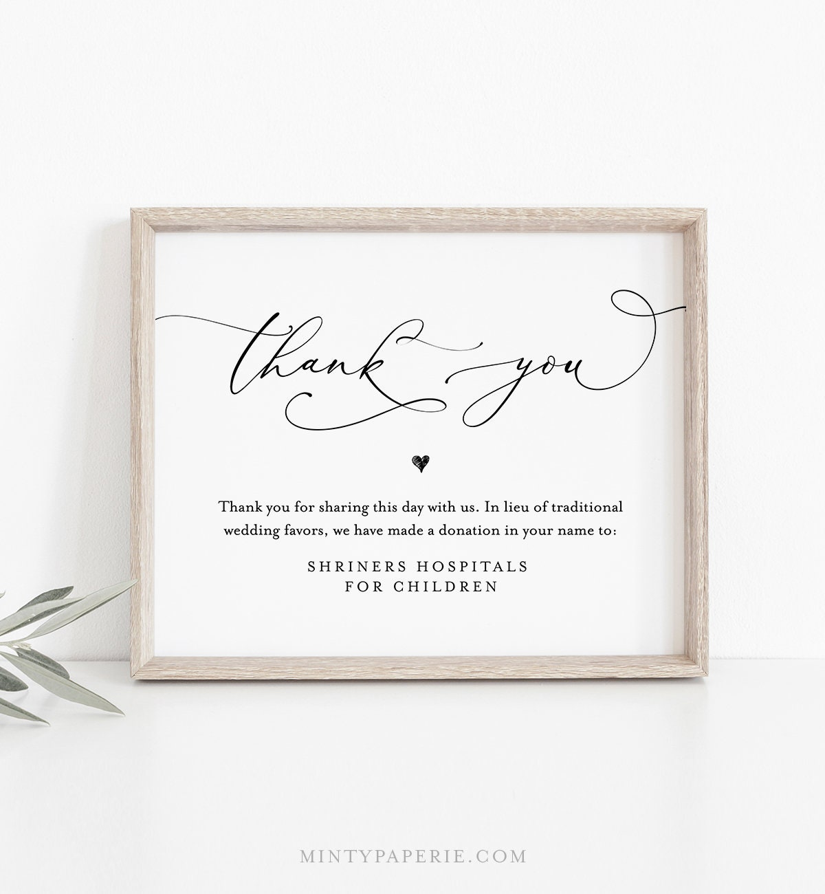 In Lieu Of Favors Template Instant Download 100 Editable