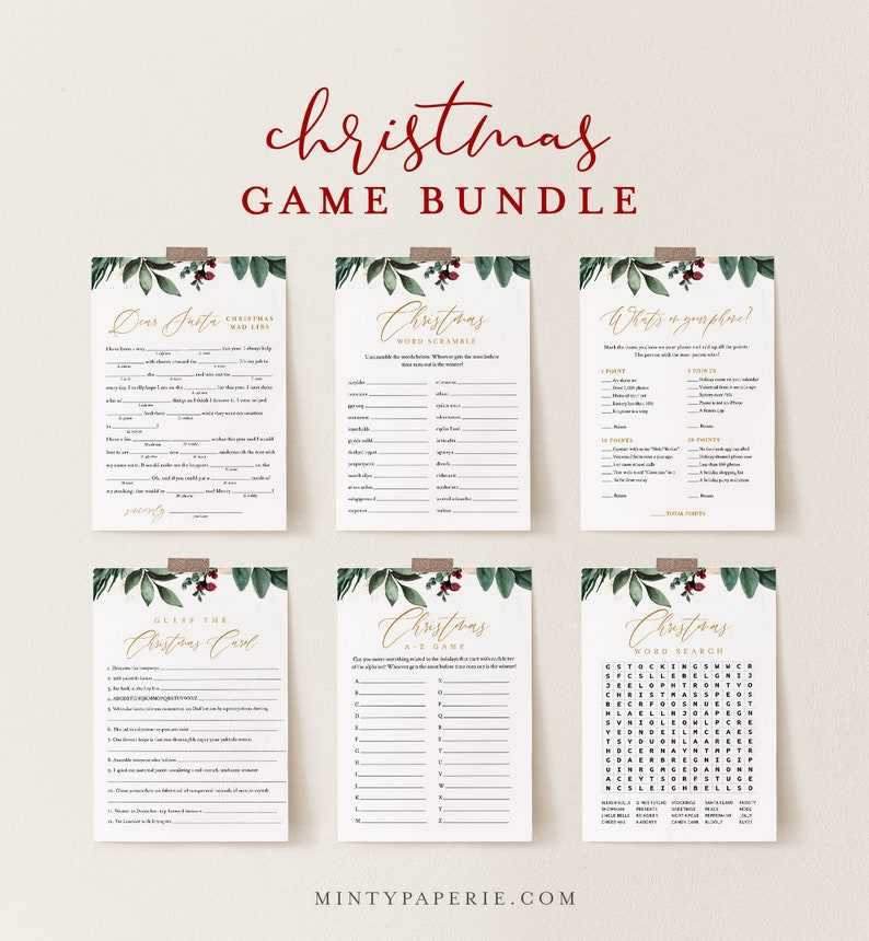 Christmas Game Bundle Holiday Party Games Family Fun 12 image 1