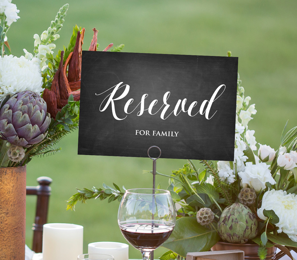 Reserved Sign Template, INSTANT DOWNLOAD, Editable PDF Template, DiY ...