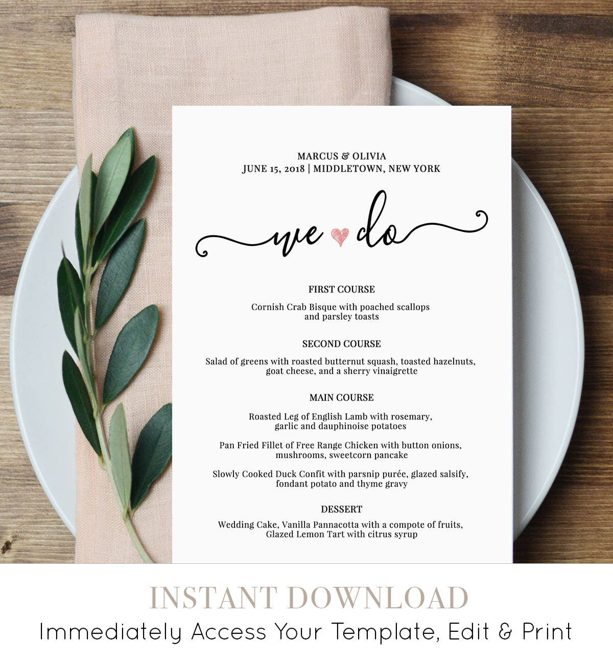 It is a graphic of Fan Printable Wedding Menus