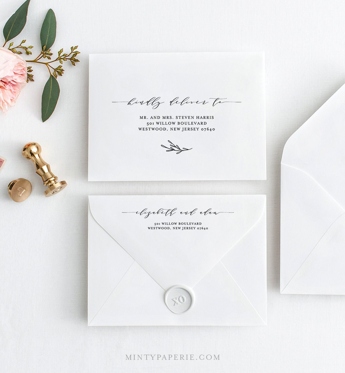 Envelope Address Template, Printable Wedding Envelope