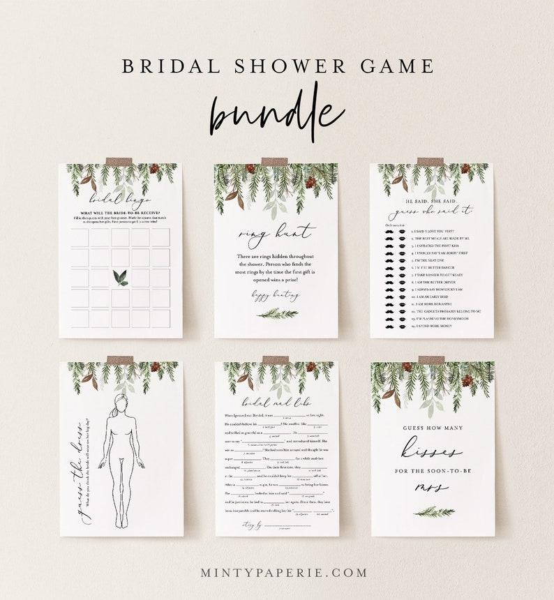 Bridal Shower Game Bundle 13 Editable Templates INSTANT image 0