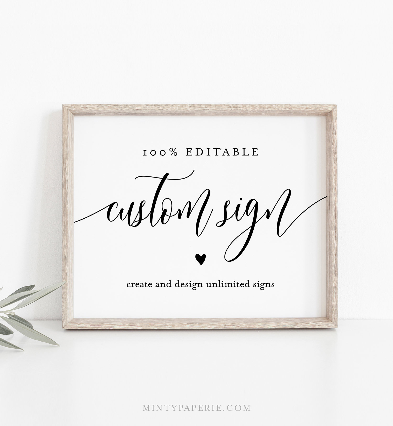 photograph relating to Out of Order Sign Template known as Editable Custom made Wedding day Signal Template, Bridal Shower Indication