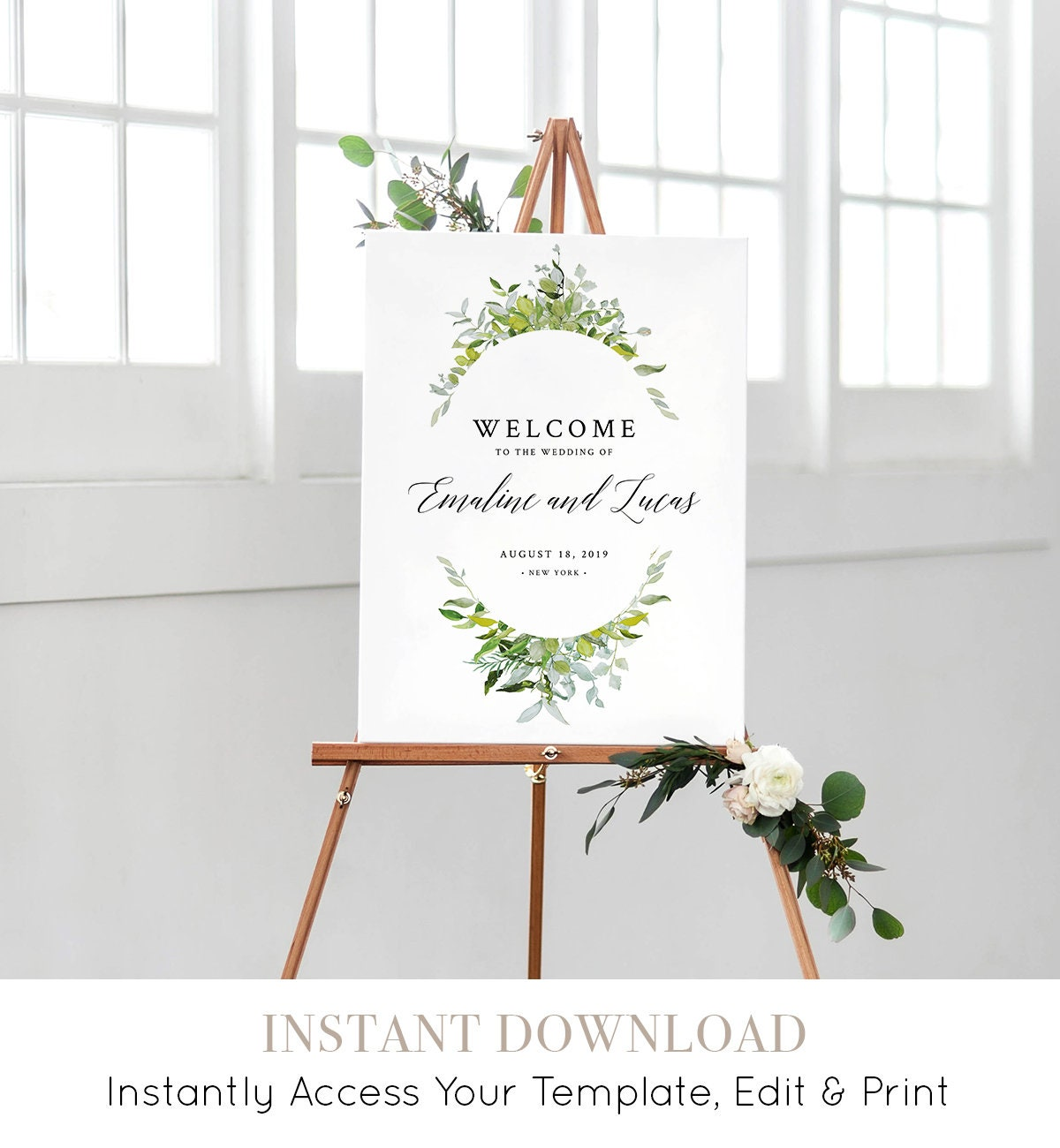 Welcome To Our Beginning Sign Printable Wedding Welcome