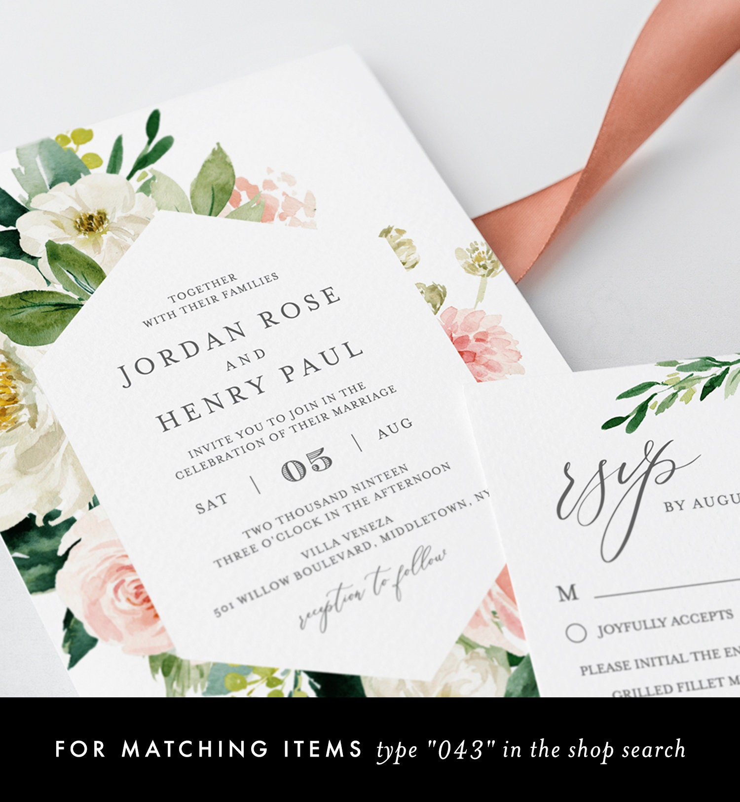 Rustic Invites Vintage Floral Wedding Invite Editable pdf Templett DUSTY Save the Date INSTANT DOWNLOAD diy Printable Save the Date