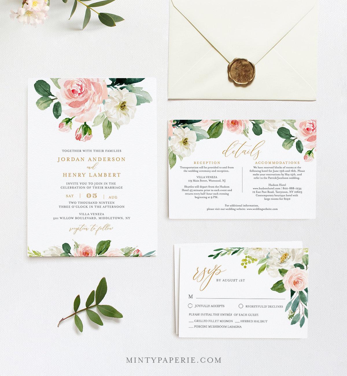 editable wedding invitation template printable invite