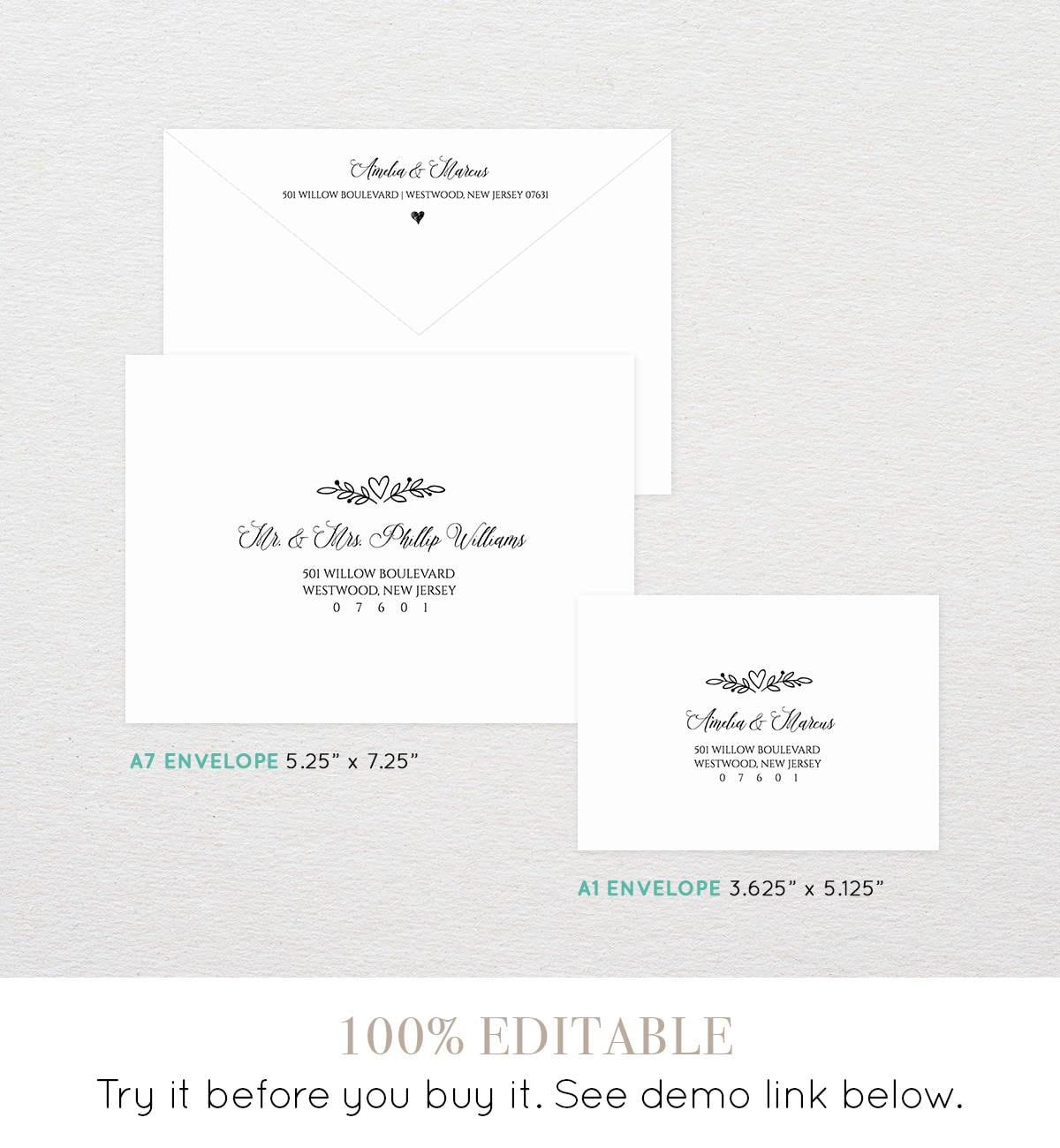 printable envelope template  custom wedding address