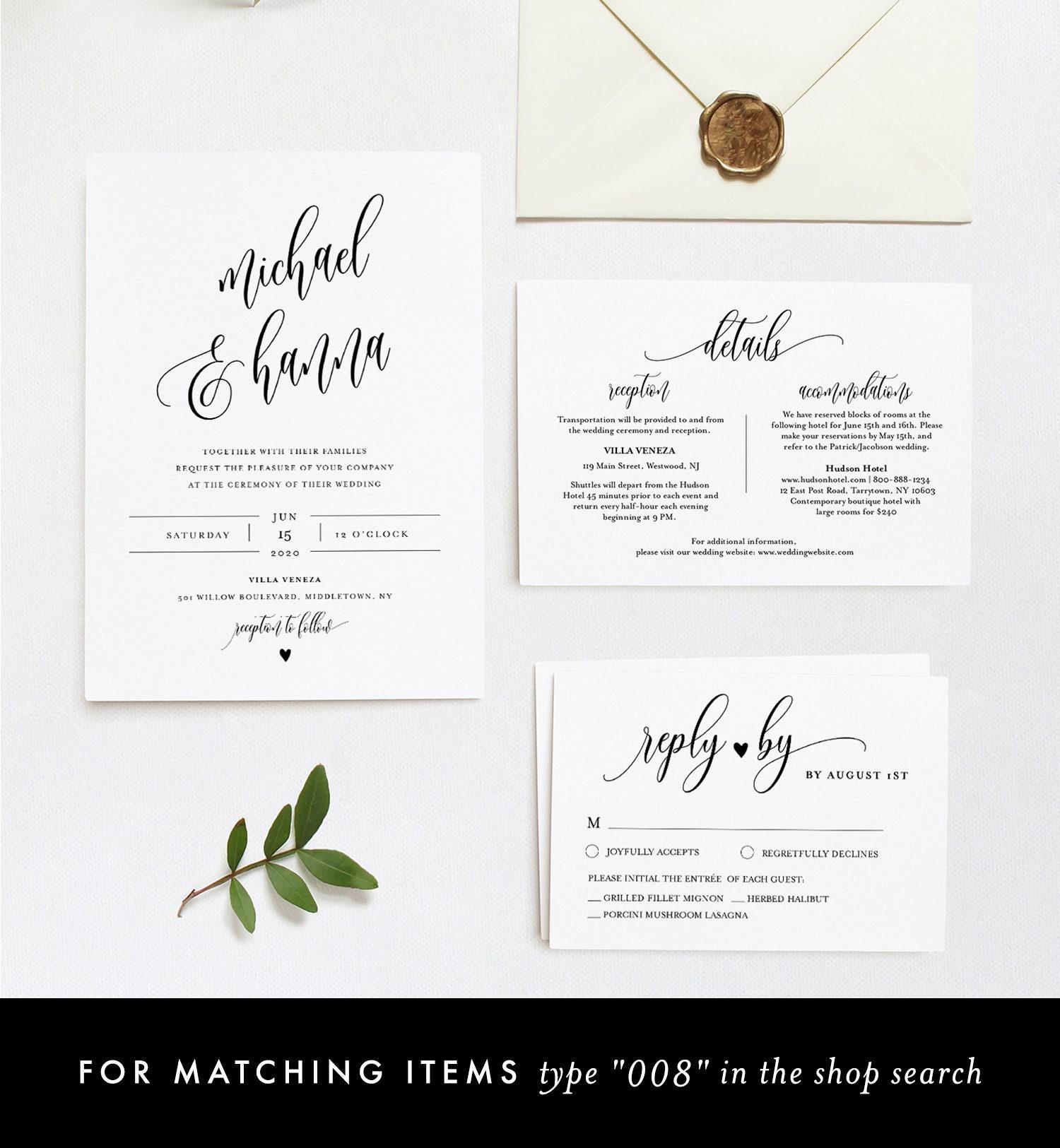 Unlimited Custom Table Sign Template Modern Wedding Decor DIY 5x7 and 8x10 Minimalist Wedding Sign Printable Editable in TEMPLETT