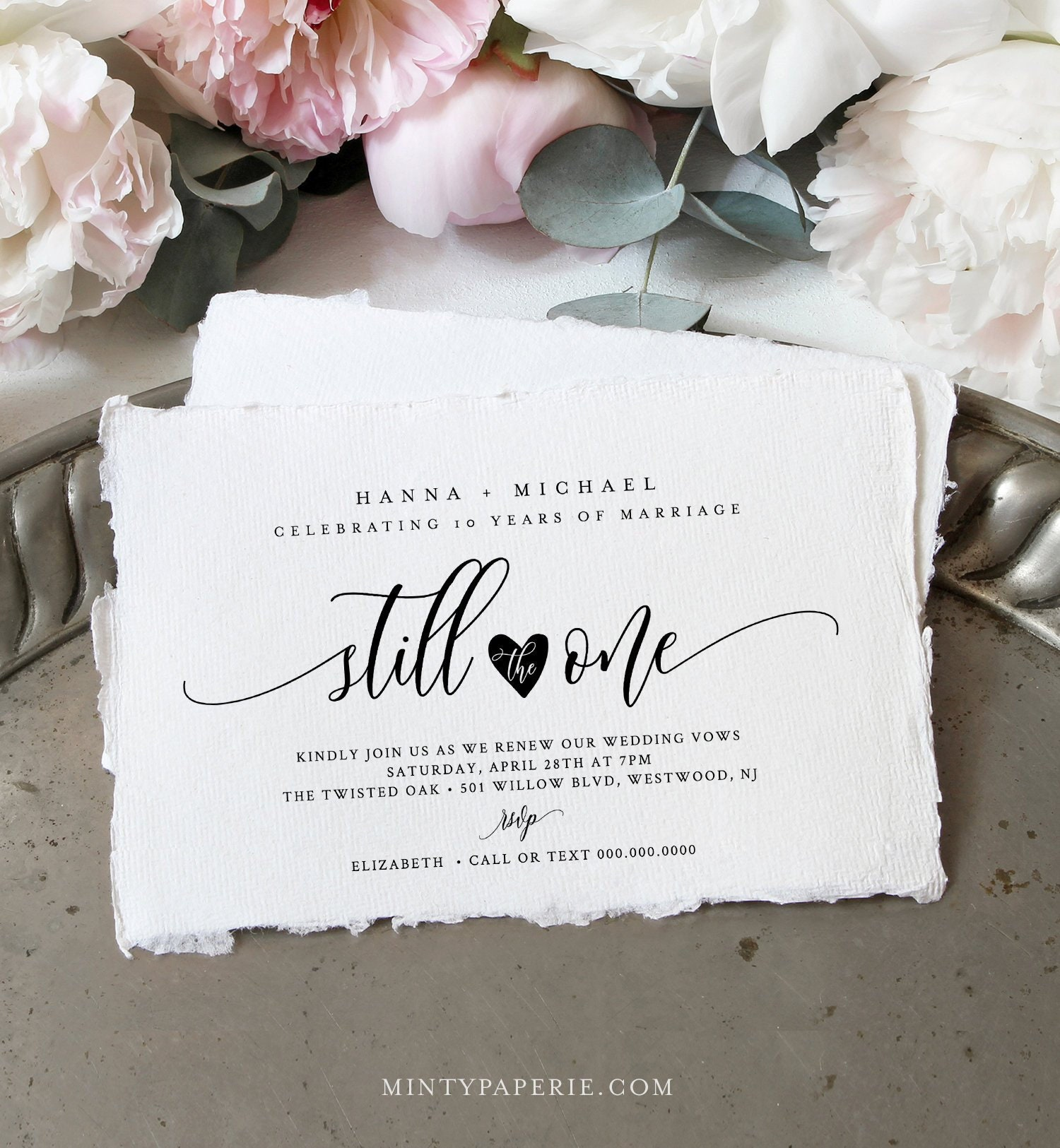 Anniversary Party Invitation Template Vow Renewal Still