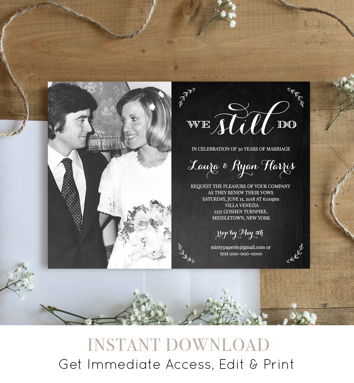 Wedding Vow Renewal.Wedding Vow Renewal Template We Still Do Instant Download Photo