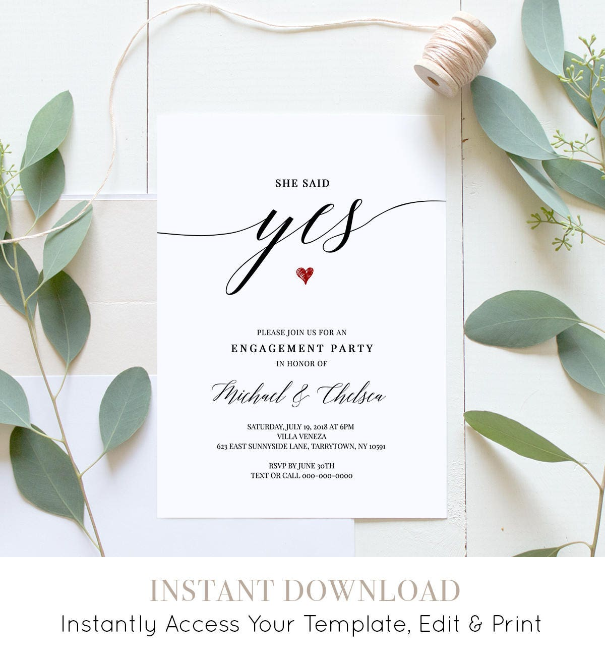 Party invitation template who to invite to engagement party.