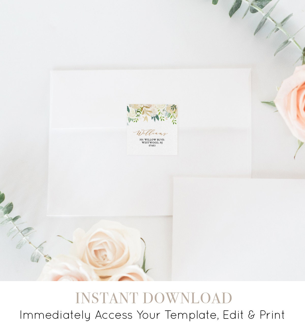 return address label template wedding favor tag address sticker