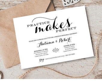 Wedding Rehearsal Dinner Invitation Template, INSTANT DOWNLOAD, Printable Wedding Rehearsal Invite, Fully Editable Template Digital #201RD