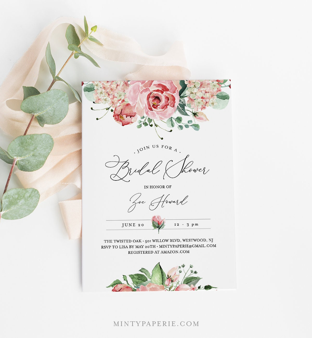 self editing bridal shower invitation template instant download printable vintage watercolor floral invite 100 editable text 060 159bs