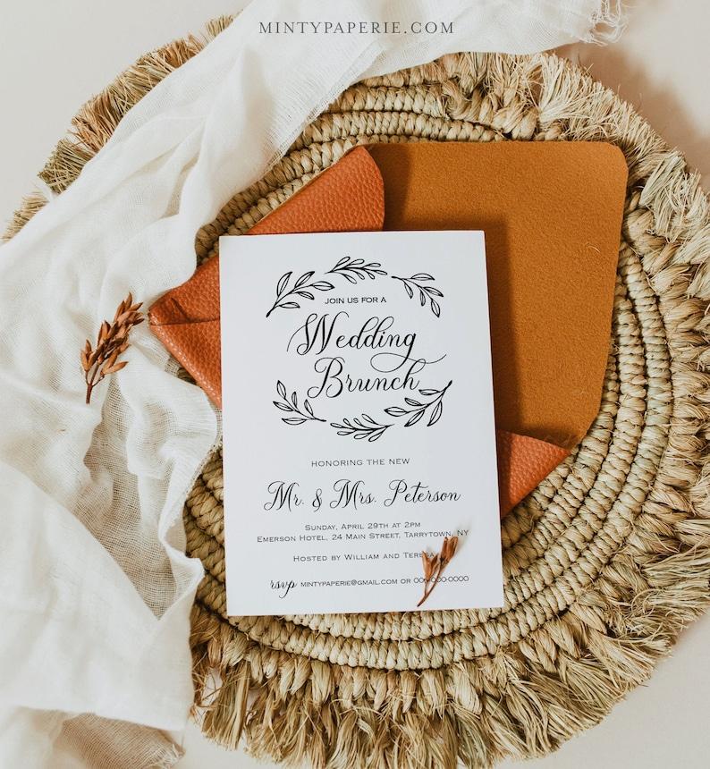 Wedding Brunch Template Post Wedding Brunch Invitation Fully image 0