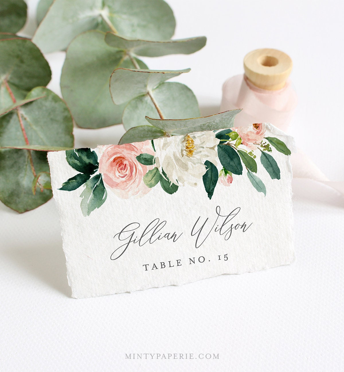 Editable Place Card Template Instant Download Printable Wedding