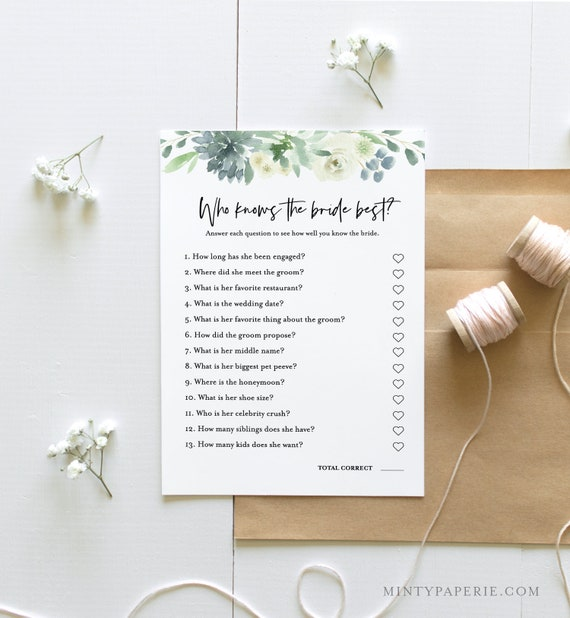 Would She Rather Bridal Shower Game, Instant Download, Edit Questions, EditableTemplate, Printable Wedding Shower, Templett #075-170BG