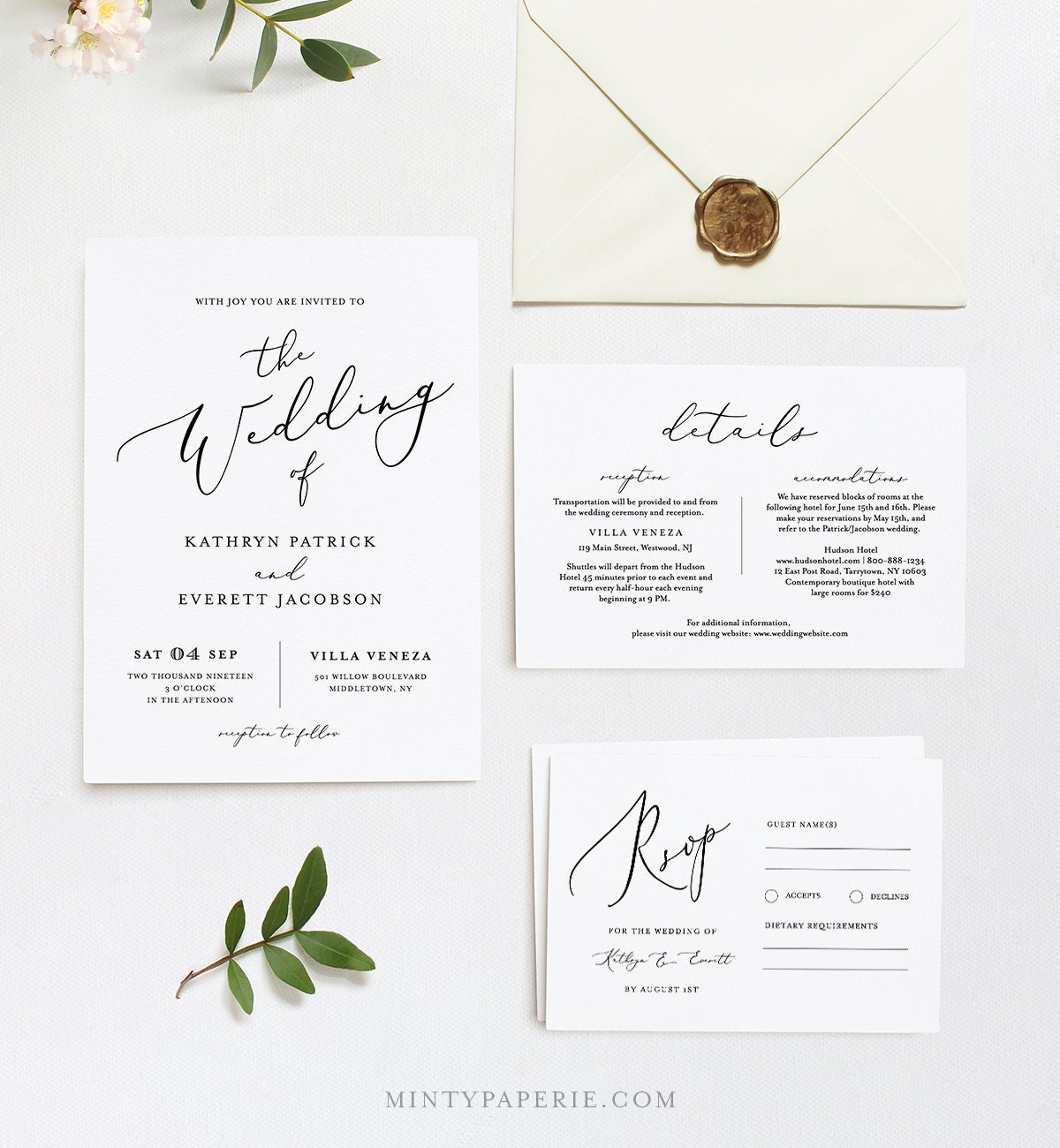 wedding invitation template instant download 100 editable