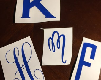 Single Letter Iron on decal
