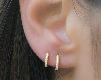 5421bd7c6876c Huggie earrings | Etsy