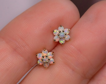 15f9c347c Gold Fill Opal Stud Earrings Small Studs Dainty Studs Minimalist Earrings  Opal Studs White Opal Earrings Gift for Her October Birthstone