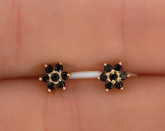 Black Stud Earrings, Black Earrings, Tiny Studs, Small Studs, Minimalist Earrings, Stud Earrings, Black Studs, Onyx Small Stud Earrings