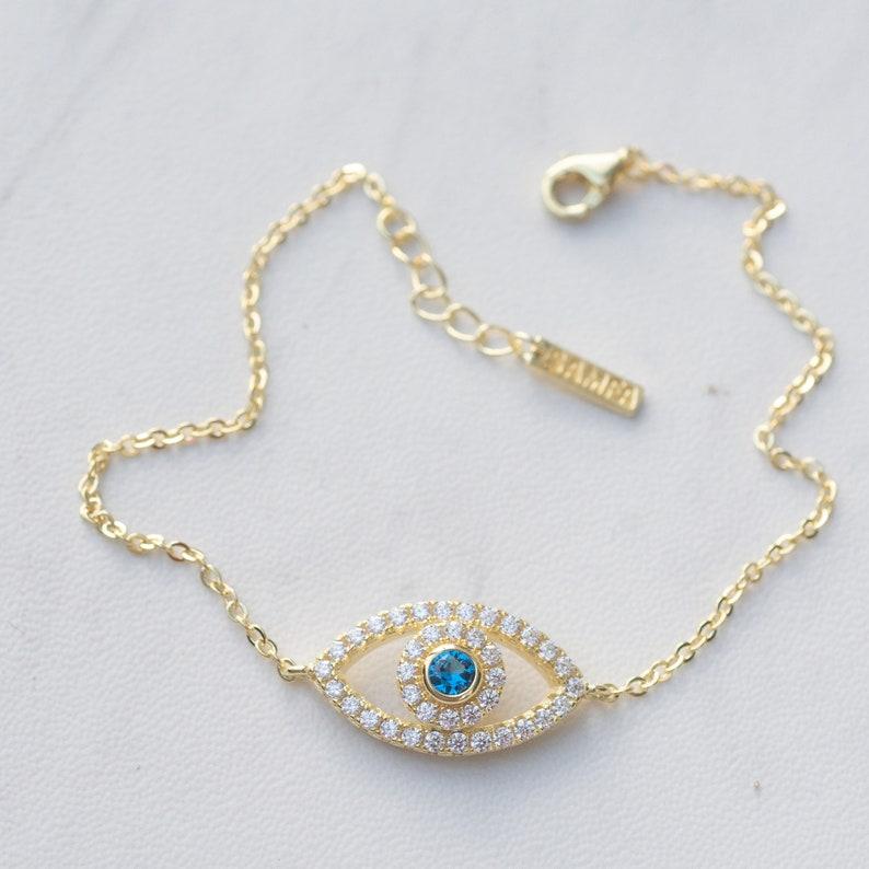Protection Bracelet Evil Eye Jewelry Evil Eye Bracelet Sterling Silver Evil Eye Bracelet Rose Gold Bracelet Gold Evil Eye Bracelet