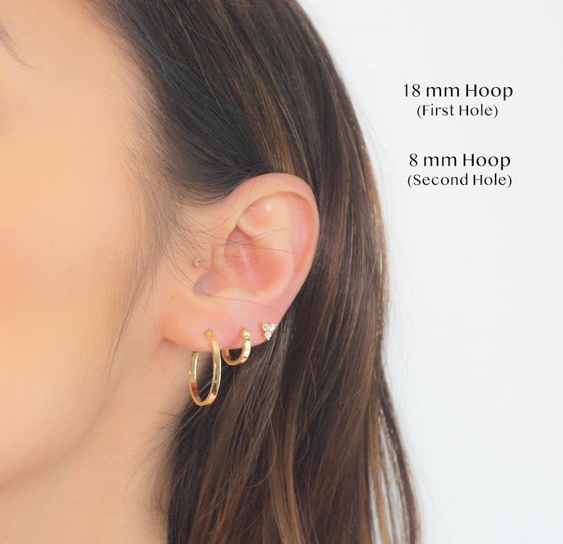 Sterling Silver Hoop Dainty Hoop Earrings Hoop Earrings Gold Hoops Gold Hoop Earrings Hoops Gold Hoops Small Gold Hoop Earring