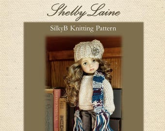 Little Darling Doll Sweater, Hat and Scarf Knitting Pattern