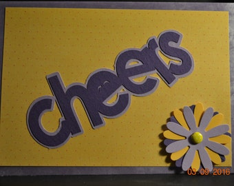Cheers Card... Ready to give your peeps that high 5 ...  Cheers is the perfect way in this one of a kind 5x7 card