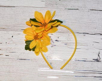 Headband with Yellow Flowers