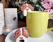 Edible Gingerbread House, Mushrooms, Mushroom Love Gingerbread House, Edible Mini Gingerbread House, Mushroom Decor, Gingerbread Cookies