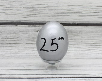 25th Silver Anniversary Confetti eggs dozen Mexican Cascarones, anniversary decor, 25 anniversary, party favors, party decorations, decor