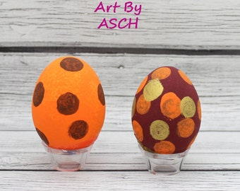 Thanksgiving Autumn Fall Confetti eggs, half dozen Mexican Cascarones, party eggs, party favors, party decorations, party decor
