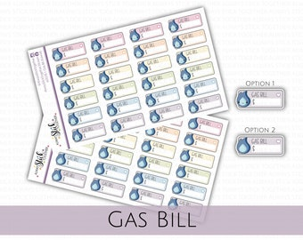 GAS BILL Stickers perfect for your Planner, Journal, or Scrapbook