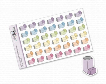 INHALER Stickers perfect for your Planner, Journal, or Scrapbook