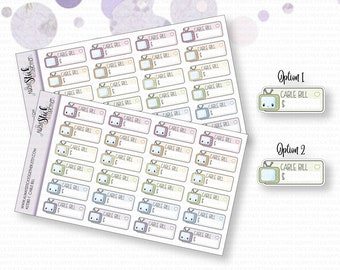 CABLE BILL Stickers perfect for your Planner, Journal, or Scrapbook