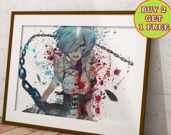 ReZero Anime, Re:Zero Kara Hajimeru Isekai Seikatsu Anime Print, Anime Watercolor, Manga Art, Anime Wall Art, Anime Decor, OC-988