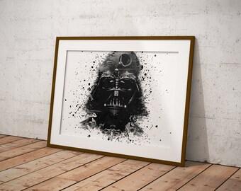Darth Vader affiche, affiche de Star Wars, Star Wars Art, affiche de film, Fan Art